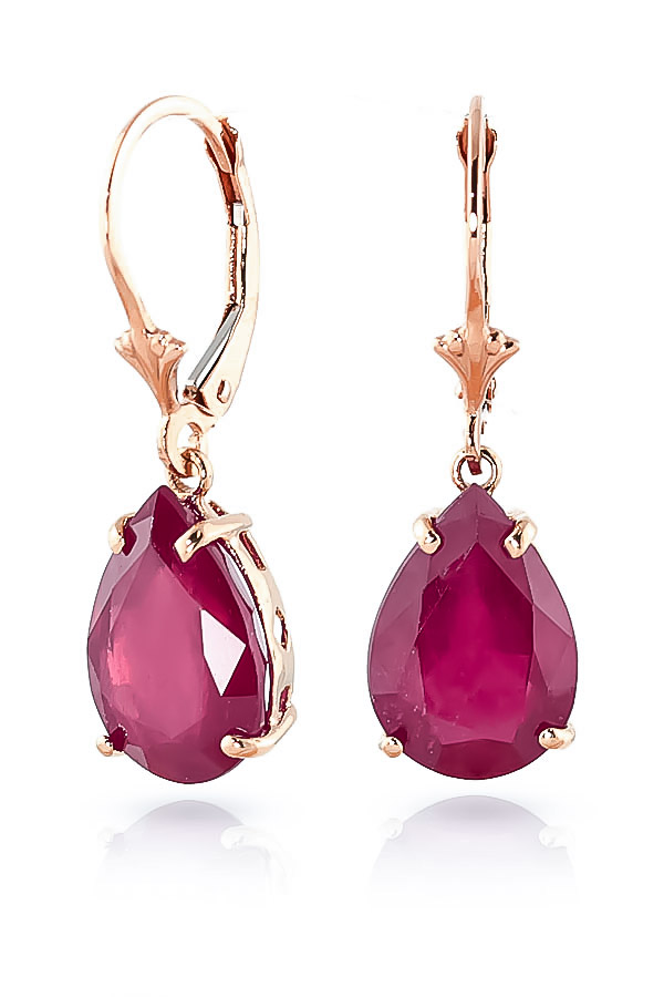 Ruby Drop Earrings 10.0ctw in 9ct Rose Gold