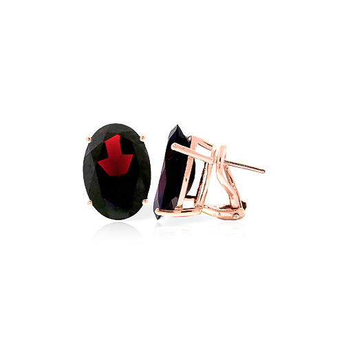 Garnet Stud Earrings 12.0ctw in 9ct Rose Gold