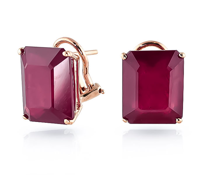 Ruby Stud Earrings 15.0ctw in 9ct Rose Gold