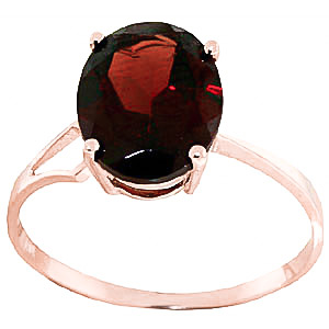 Garnet Claw Set Ring 2.2ct in 9ct Rose Gold