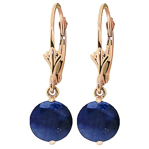 Sapphire Drop Earrings 3.3ctw in 9ct Rose Gold
