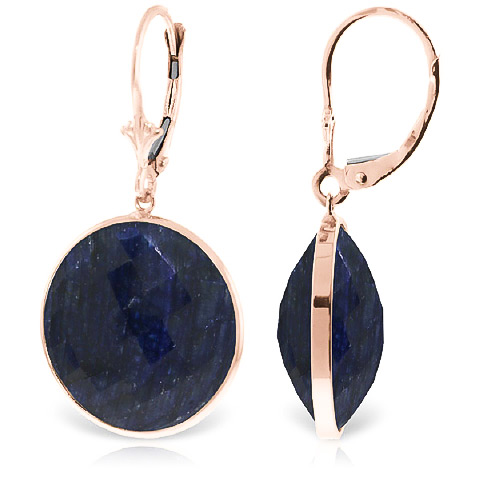 Sapphire Drop Earrings 46.0ctw in 9ct Rose Gold