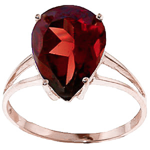Pear Cut Garnet Ring 5.0ct in 9ct Rose Gold