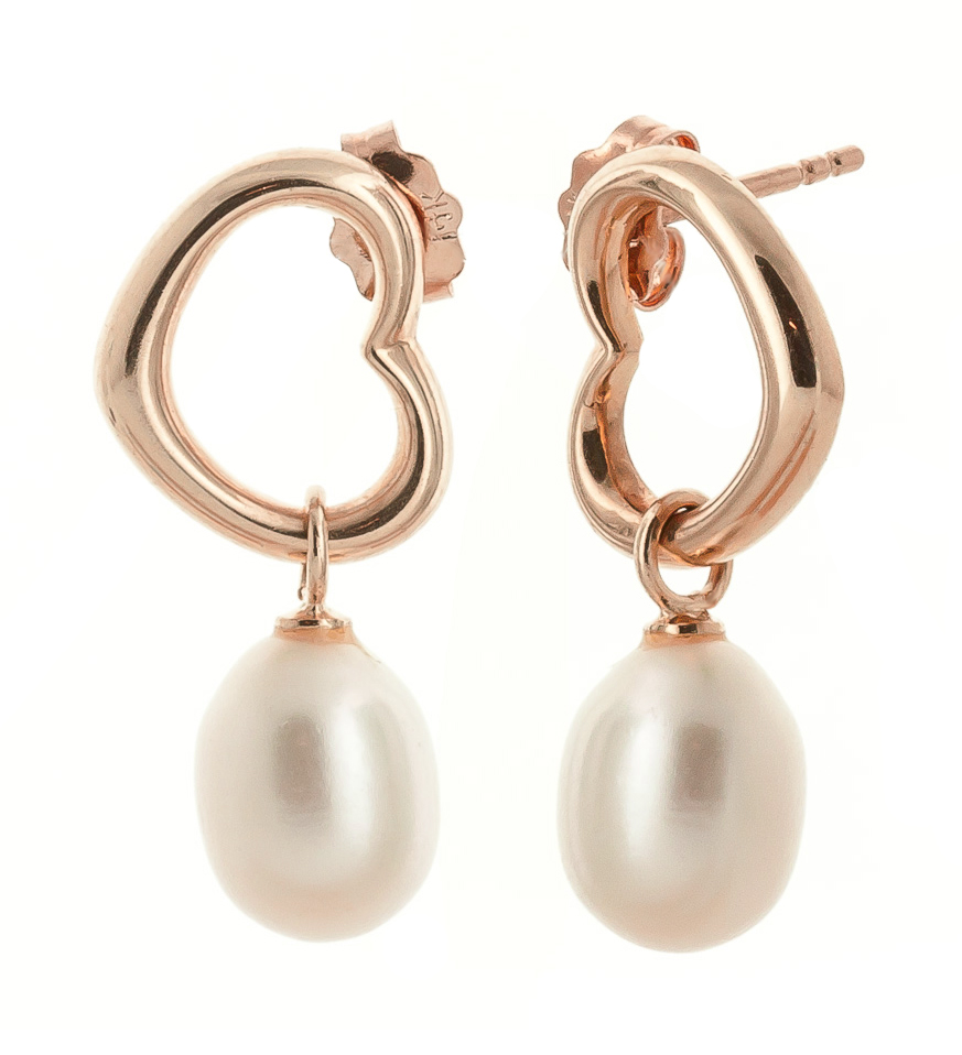 Pearl Stud Earrings 8.0ctw in 9ct Rose Gold