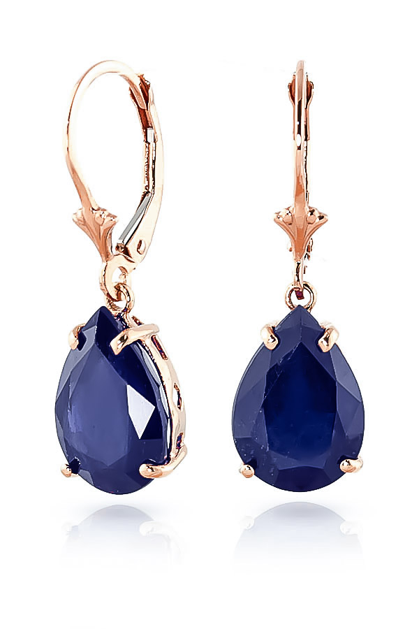 Sapphire Drop Earrings 9.3ctw in 9ct Rose Gold