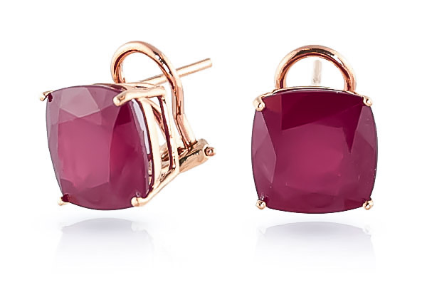Ruby Stud Earrings 9.4ctw in 9ct Rose Gold