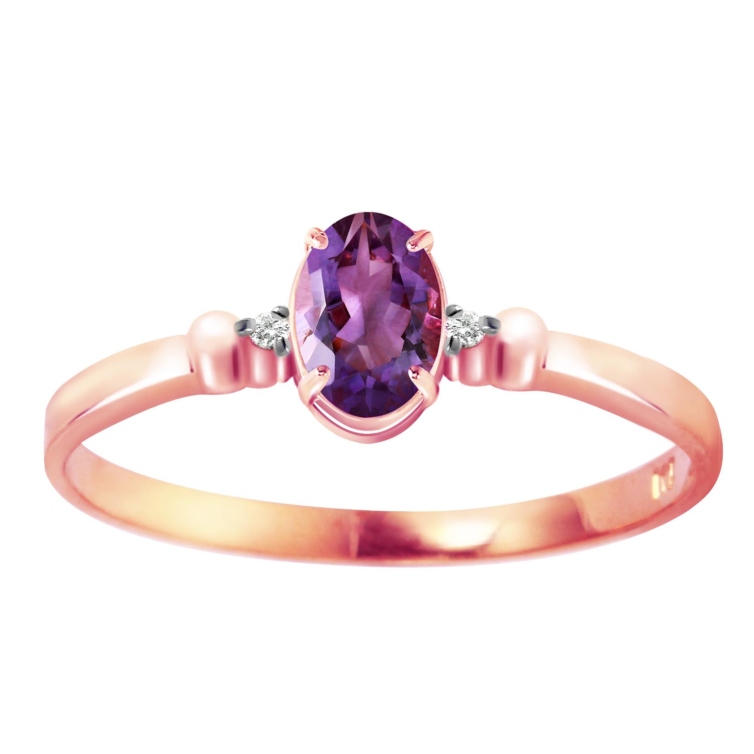 Stockists of Amethyst and Diamond Allure Ring 0.45ct in 9ct Rose Gold