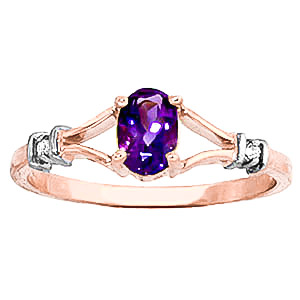 Stockists of Amethyst and Diamond Aspire Ring 0.45ct in 9ct Rose Gold