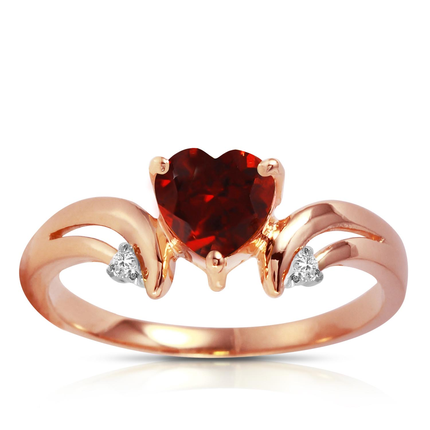 Garnet and Diamond Ring 1.25ct in 9ct Rose Gold