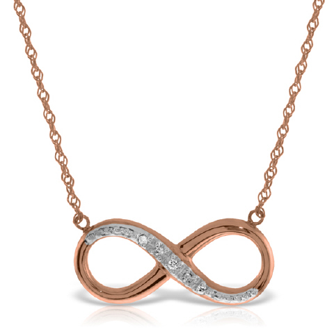 Diamond Infinite Pendant Necklace in 9ct Rose Gold