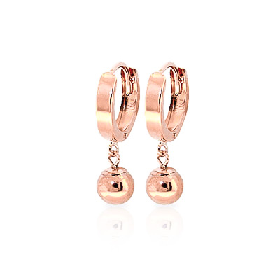 Ball Huggie Earrings in 9ct Rose Gold