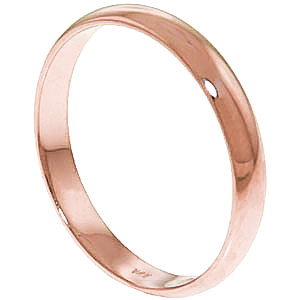 Wedding Ring in 9ct Rose Gold