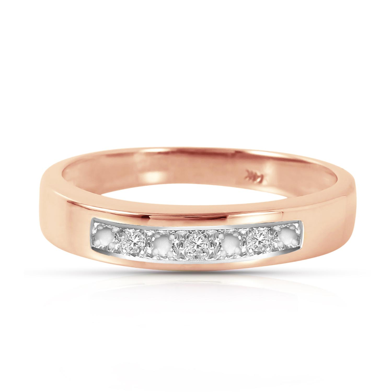Round Cut Diamond Ring 0.02 ctw in 18ct Rose Gold