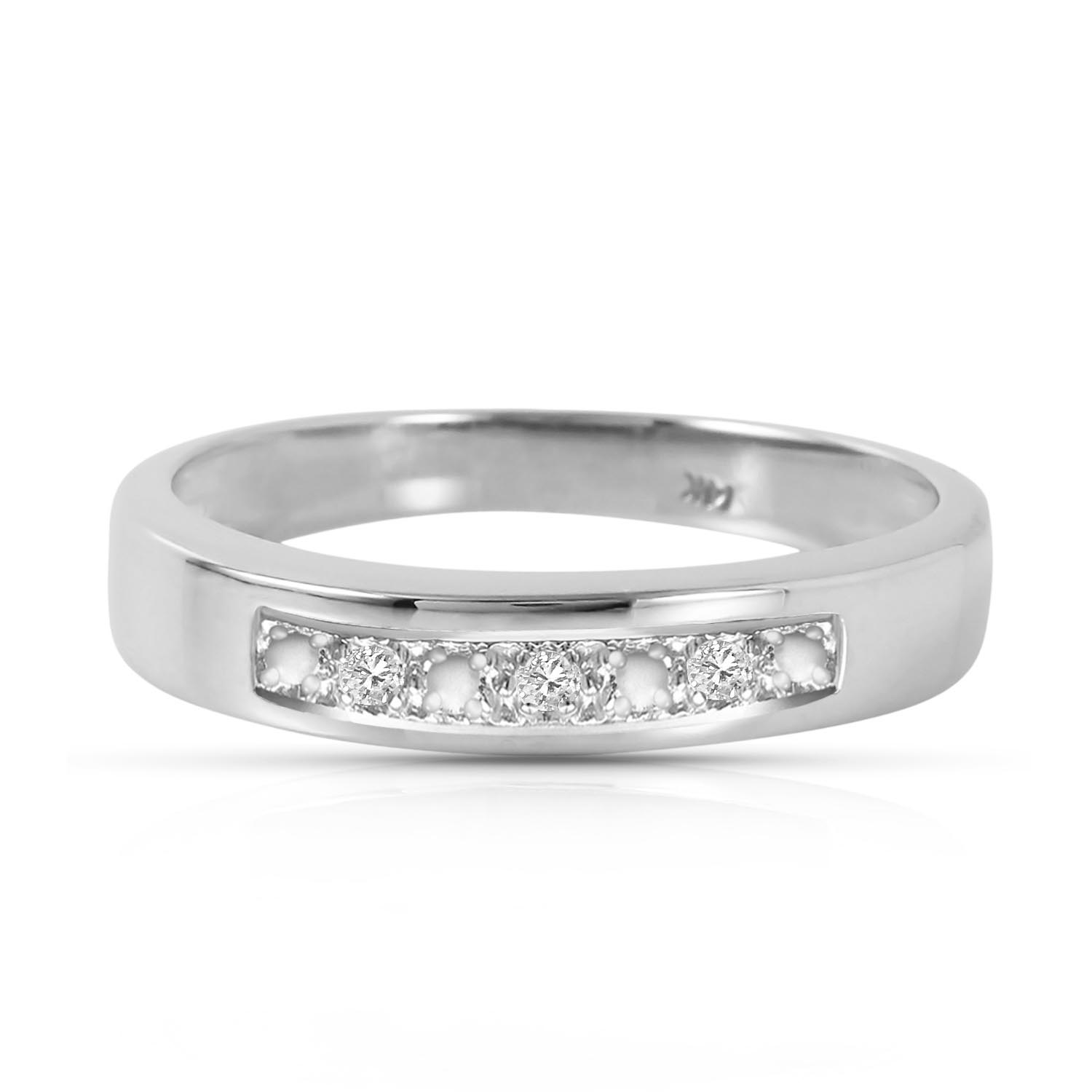 Round Cut Diamond Ring 0.02 ctw in 18ct White Gold