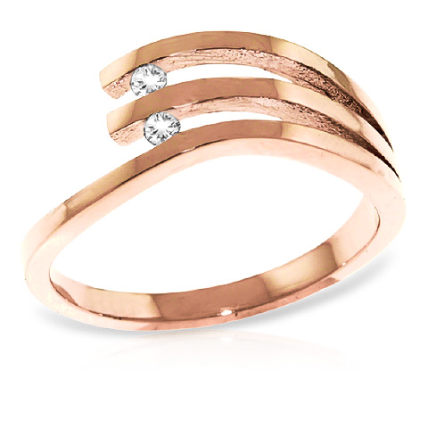 Round Cut Diamond Ring 0.06 ctw in 9ct Rose Gold