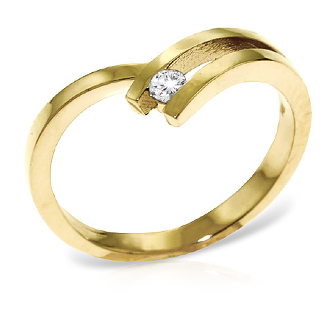 Round Cut Diamond Ring 0.1 ct in 18ct Gold
