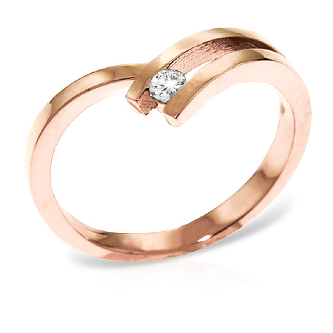 Round Cut Diamond Ring 0.1 ct in 18ct Rose Gold