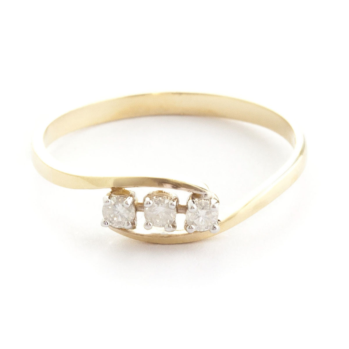 Round Cut Diamond Ring 0.15 ctw in 9ct Gold