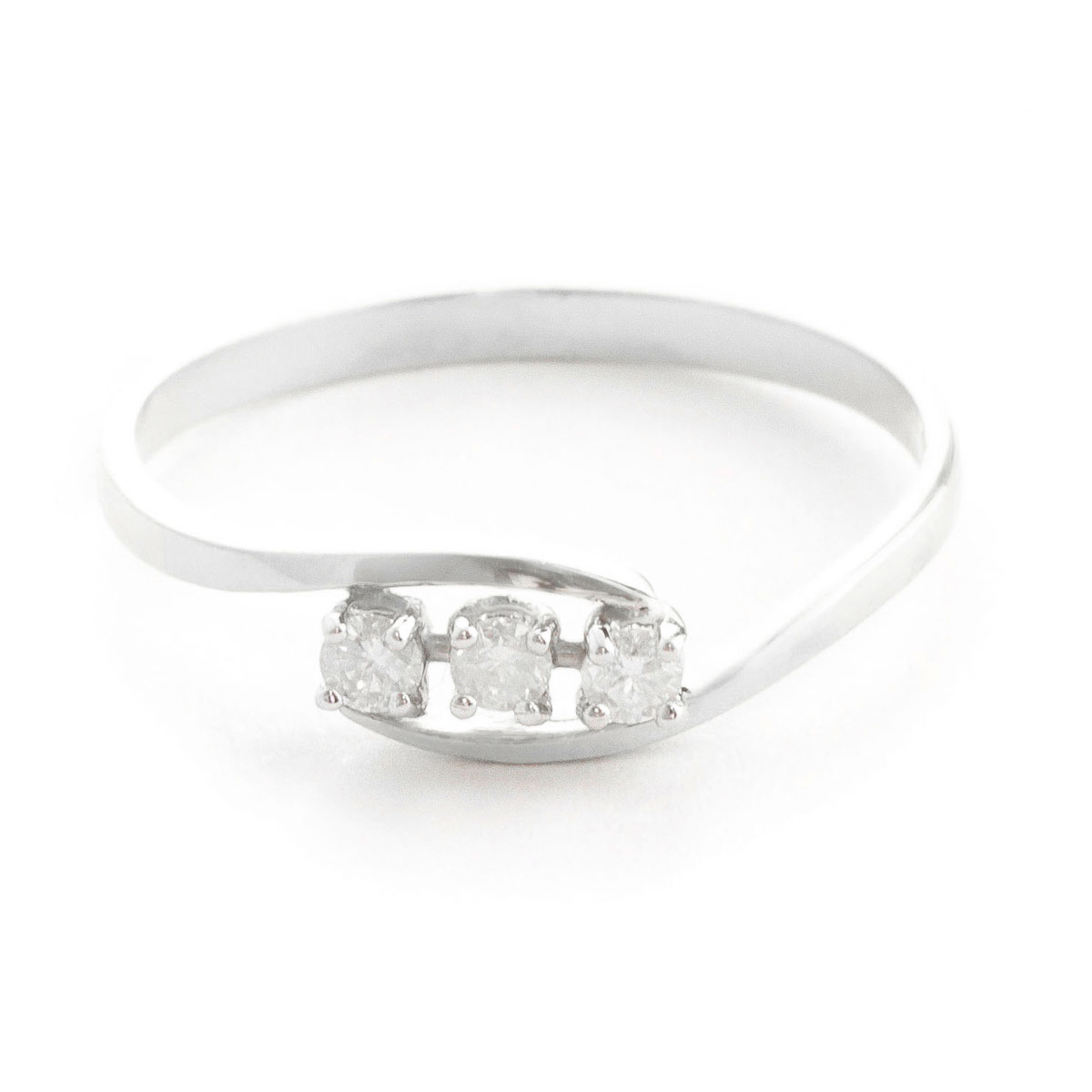 Round Cut Diamond Ring 0.15 ctw in 9ct White Gold