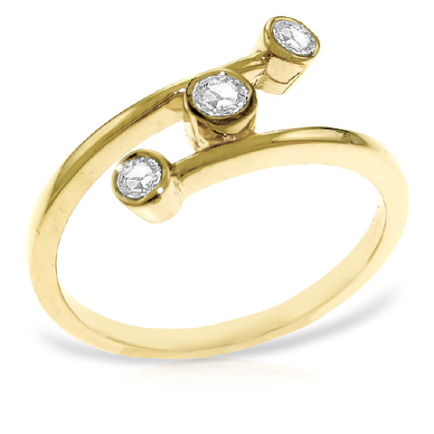 Round Cut Diamond Ring 0.3 ctw in 18ct Gold