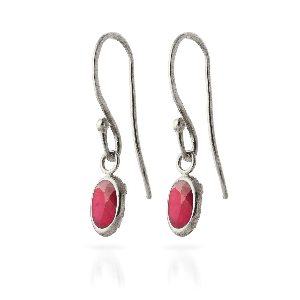 Ruby Allure Drop Earrings 1 ctw in 9ct White Gold