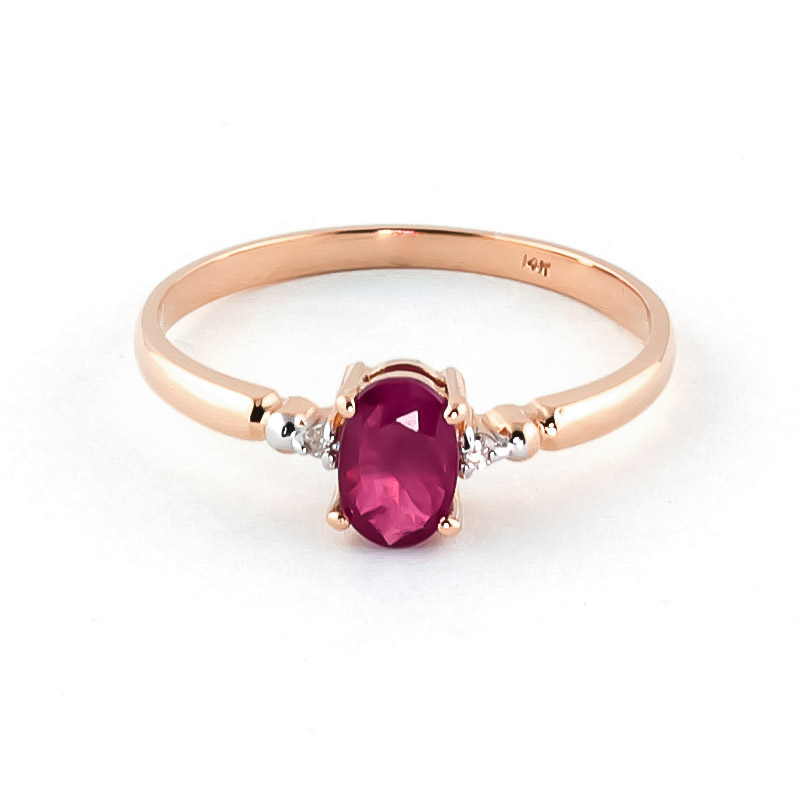 Ruby & Diamond Allure Ring in 9ct Rose Gold