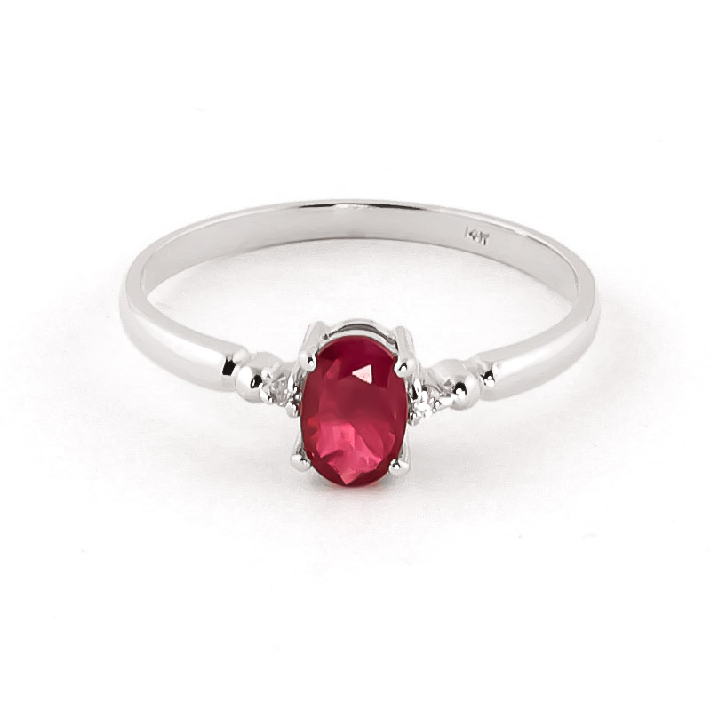 Ruby & Diamond Allure Ring in 18ct White Gold