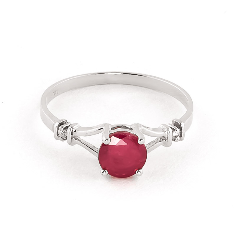 Ruby & Diamond Aspire Ring in 9ct White Gold