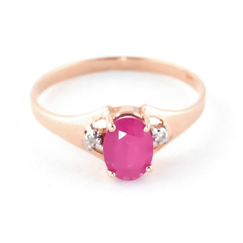 Ruby & Diamond Desire Ring in 9ct Rose Gold