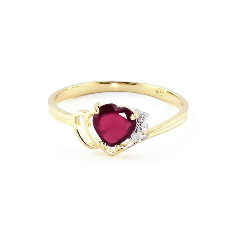 Ruby & Diamond Devotion Ring in 18ct Gold