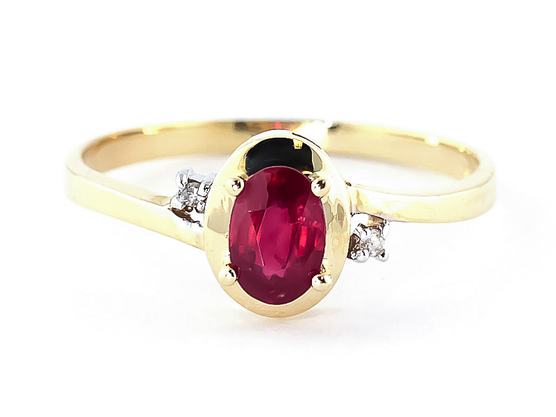 Ruby & Diamond Meridian Ring in 18ct Gold
