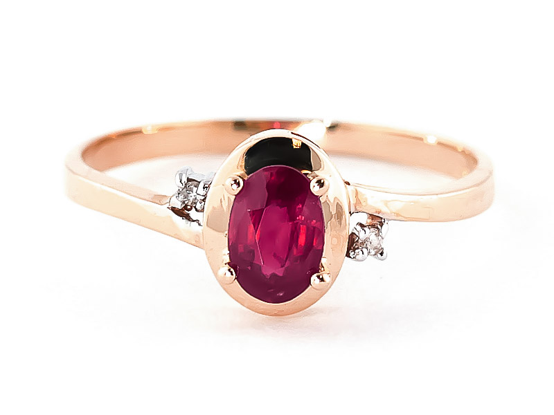 Ruby & Diamond Meridian Ring in 18ct Rose Gold