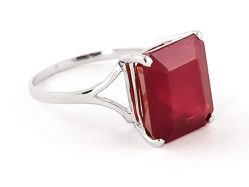 Ruby Auroral Ring 6.5 ct in 9ct White Gold
