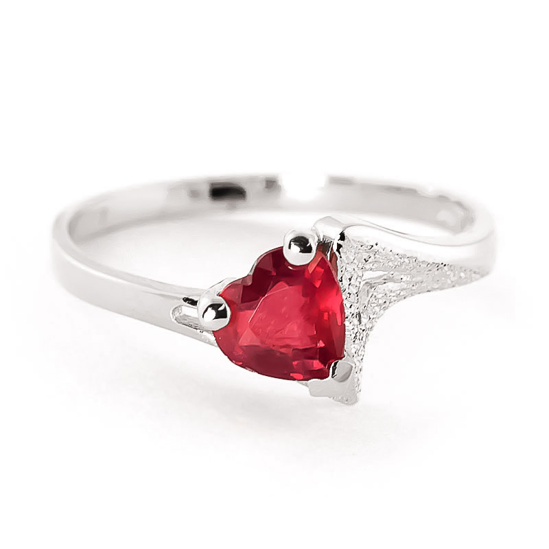 Ruby Devotion Ring 1 ct in 9ct White Gold