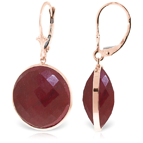 Ruby Drop Earrings 46 ctw in 9ct Rose Gold