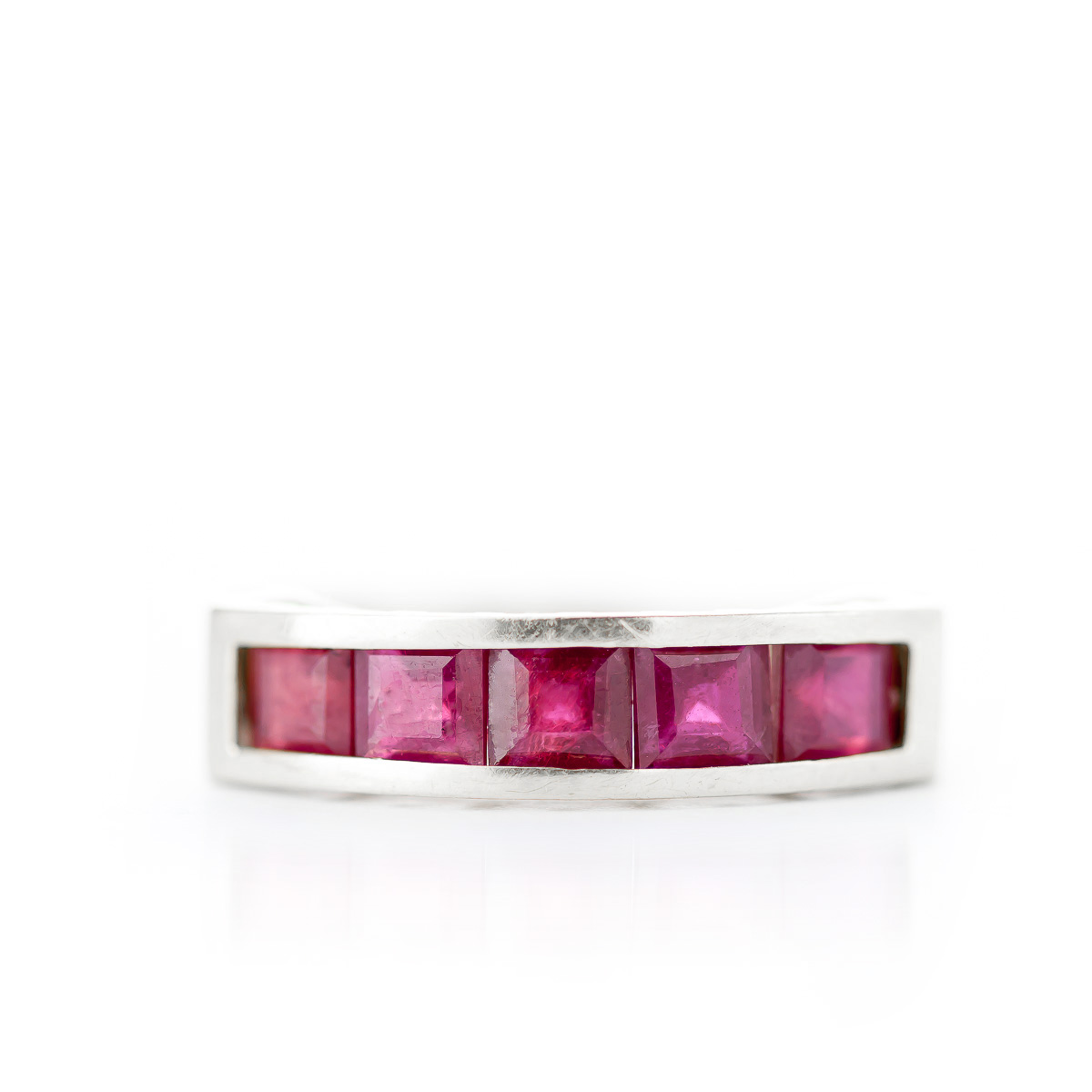 Ruby Prestige Ring 2.5 ctw in 9ct White Gold