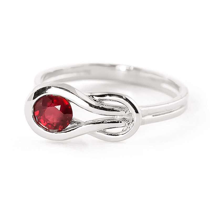 Ruby San Francisco Ring 0.65 ct in 18ct White Gold