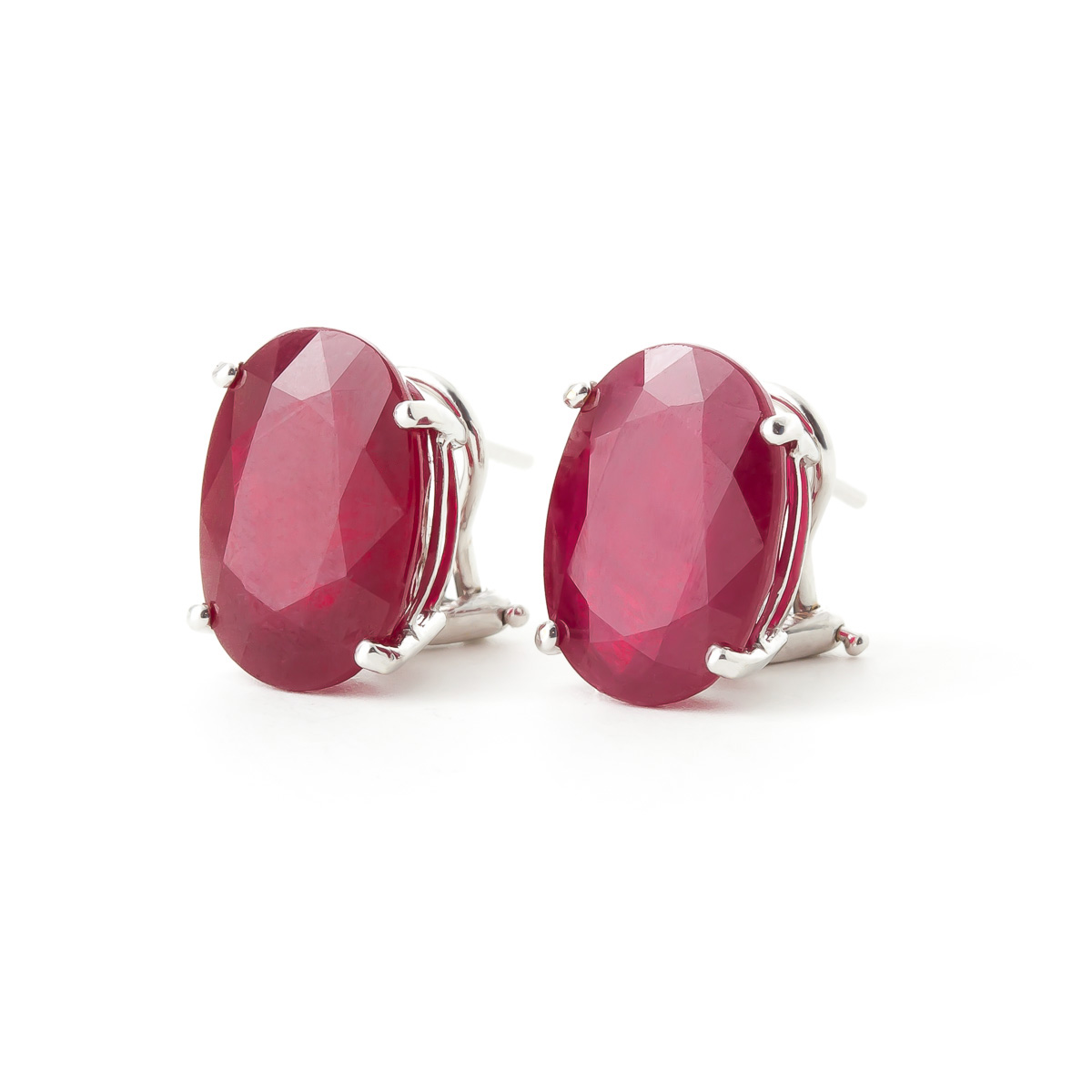Ruby Stud Earrings 15 ctw in 9ct White Gold