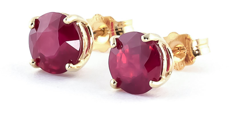 Ruby Stud Earrings 4.5 ctw in 9ct Gold