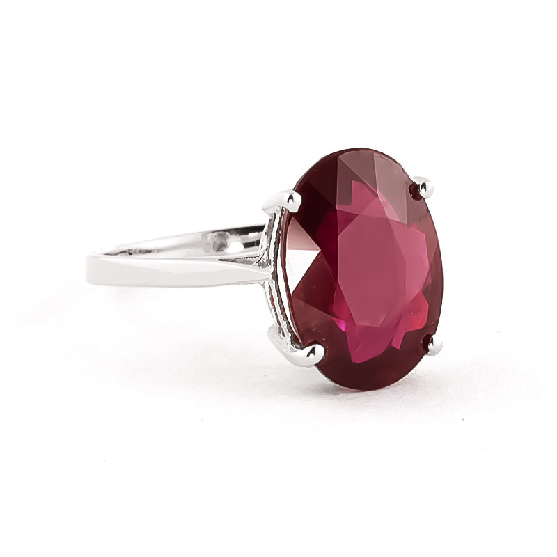 Ruby Valiant Ring 7.5 ct in 18ct White Gold