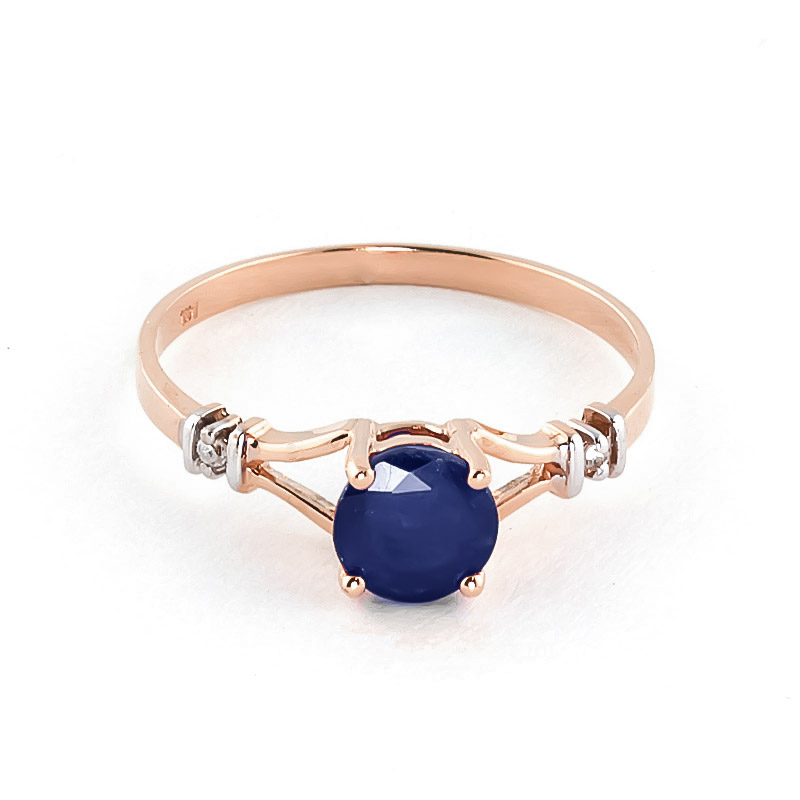 Sapphire & Diamond Aspire Ring in 9ct Rose Gold