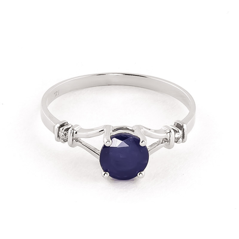 Sapphire & Diamond Aspire Ring in Sterling Silver
