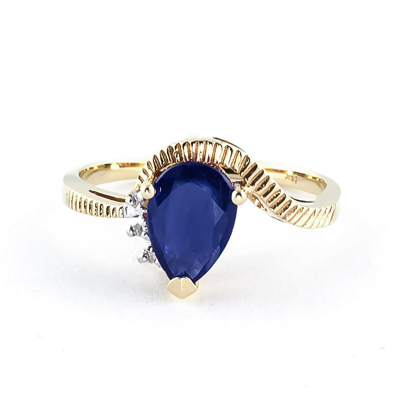 Sapphire & Diamond Belle Ring in 18ct Gold