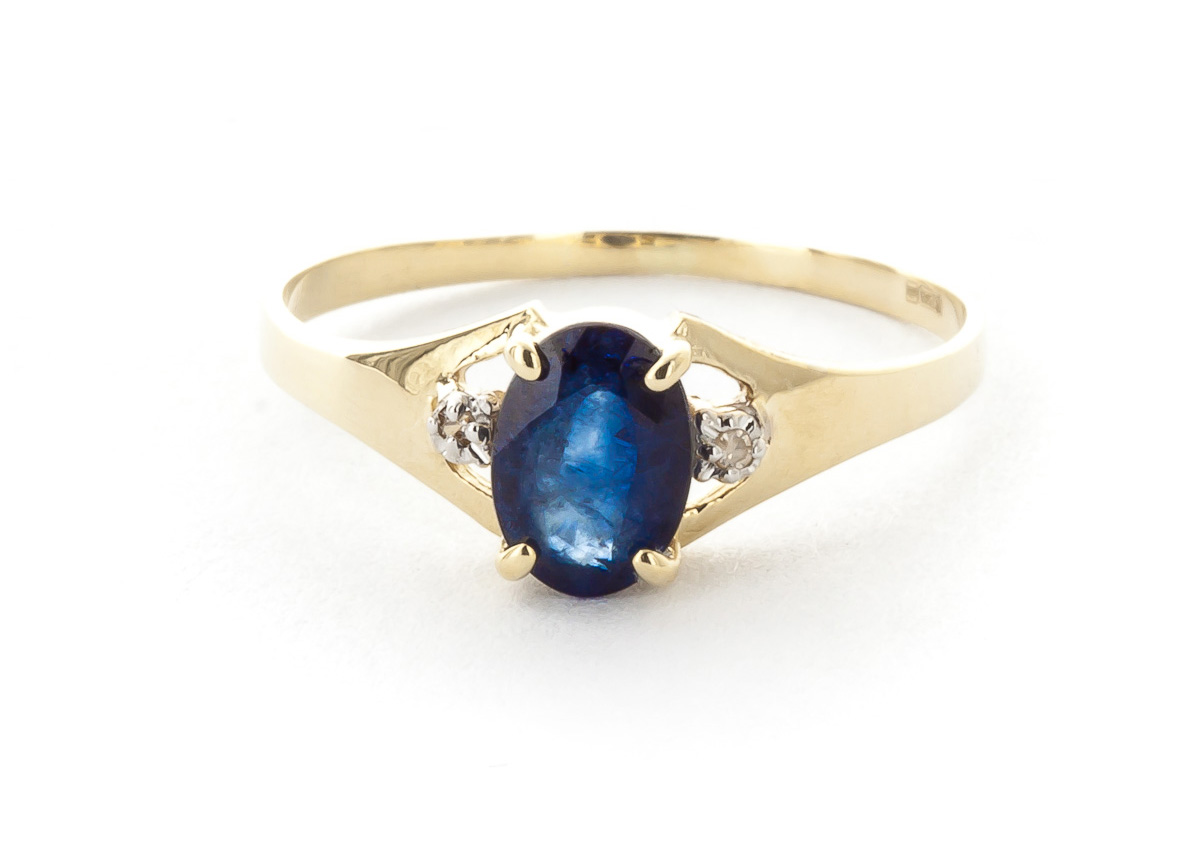 Sapphire & Diamond Desire Ring in 9ct Gold