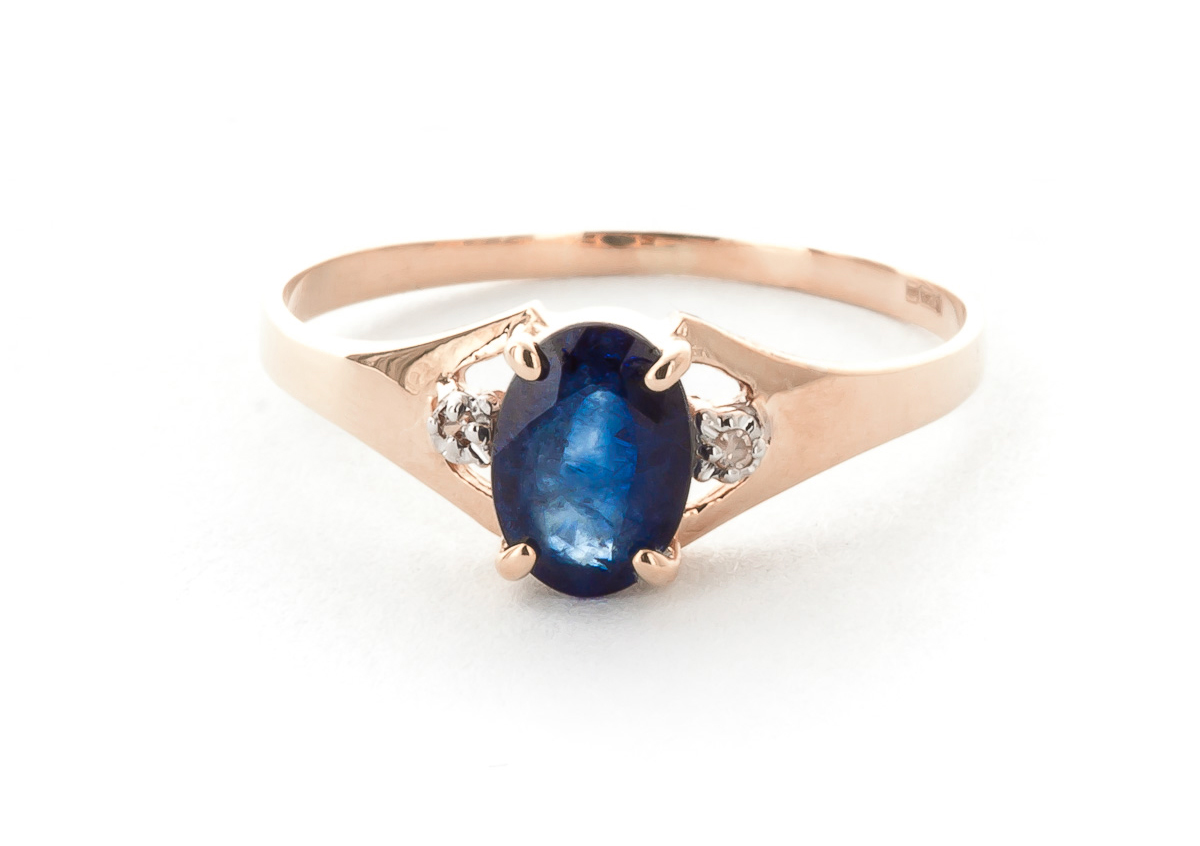 Sapphire & Diamond Desire Ring in 9ct Rose Gold