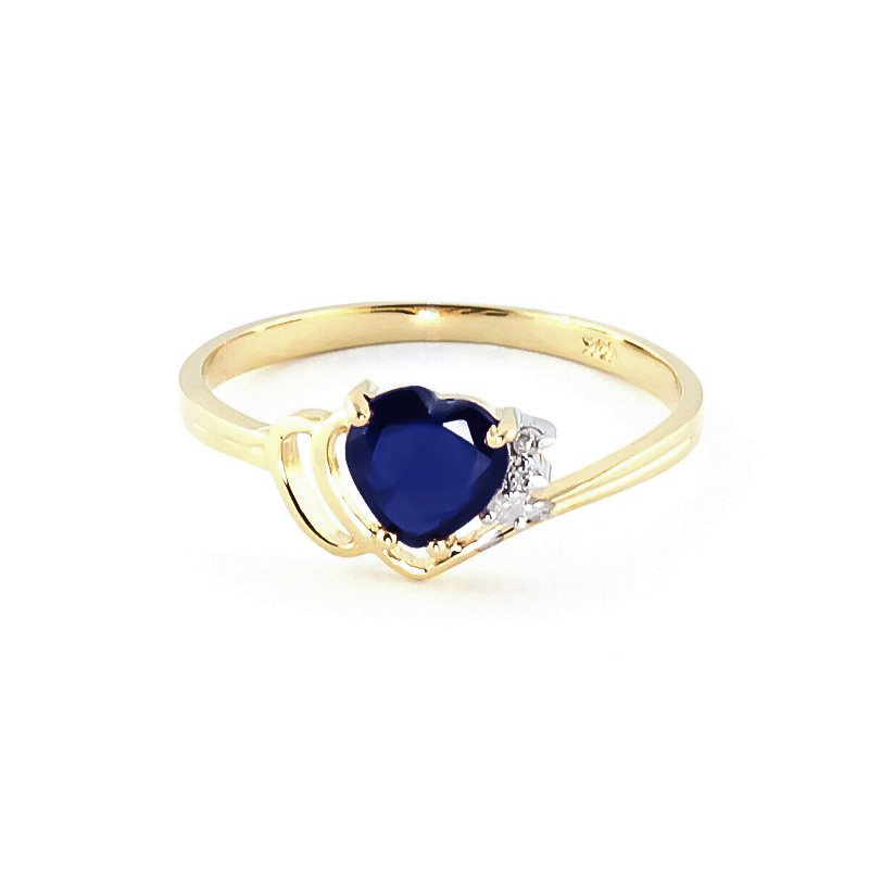 Sapphire & Diamond Devotion Ring in 18ct Gold