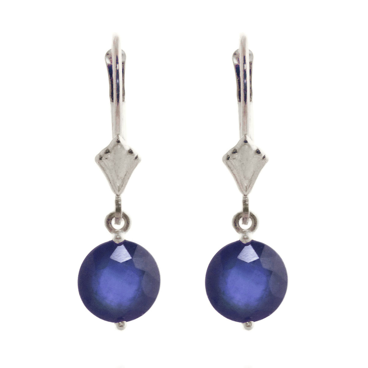 Sapphire Drop Earrings 3.3 ctw in 9ct White Gold