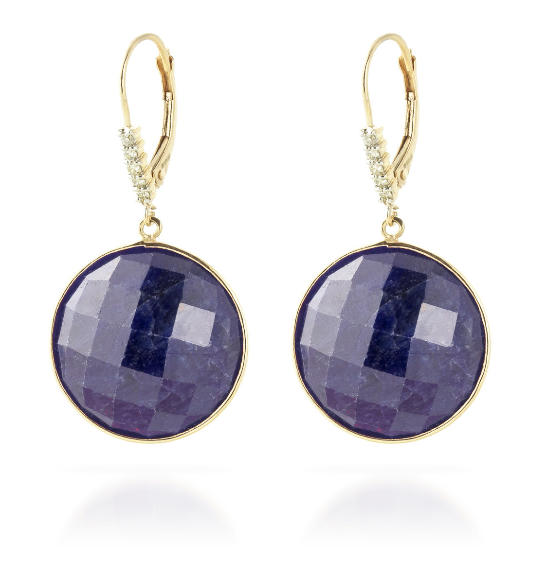 Sapphire Drop Earrings 46.15 ctw in 9ct Gold