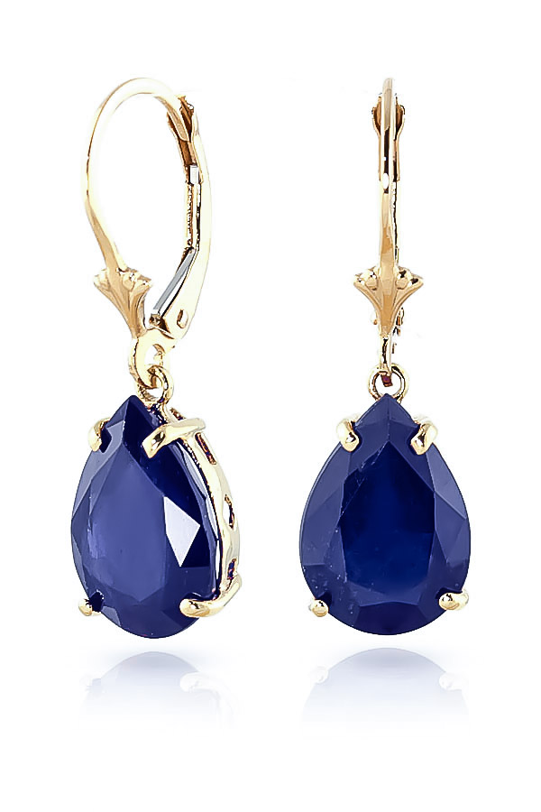 Sapphire Drop Earrings 9.3 ctw in 9ct Gold