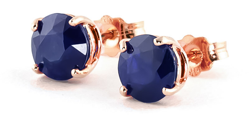 Sapphire Stud Earrings 3.3 ctw in 9ct Rose Gold